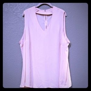 Torrid sleeveless blush pink top size 3